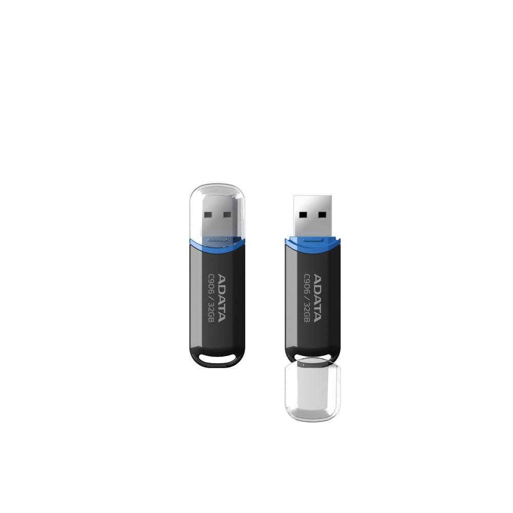 Memoria USB Adata C906, 32GB, USB 2.0, Negro
