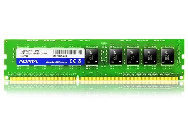 Memoria RAM Adata DDR3, 1600MHz, 4GB, ECC, CL11