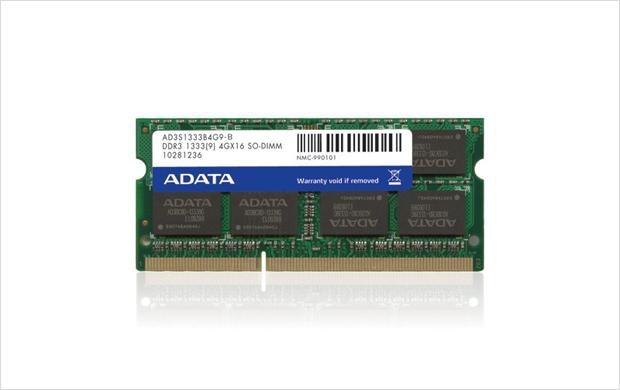 Memoria RAM Adata DDR3, 1333MHz, 2GB, CL9, Non-ECC, SO-DIMM