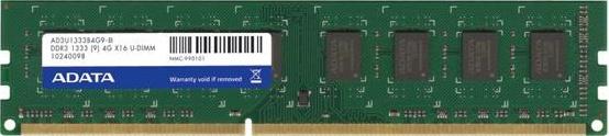 Memoria RAM Adata DDR3, 1333MHz, 2GB, Non-ECC