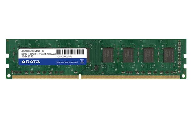 Memoria RAM Adata DDR3, 1600MHz, 2GB, CL11