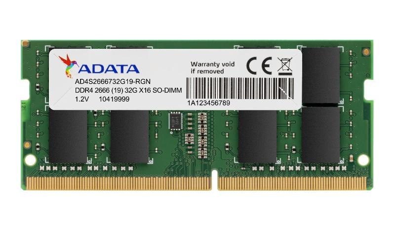 Memoria RAM Adata Premier DDR4, 2666MHz, 8GB, Non-ECC, CL19, SO-DIMM