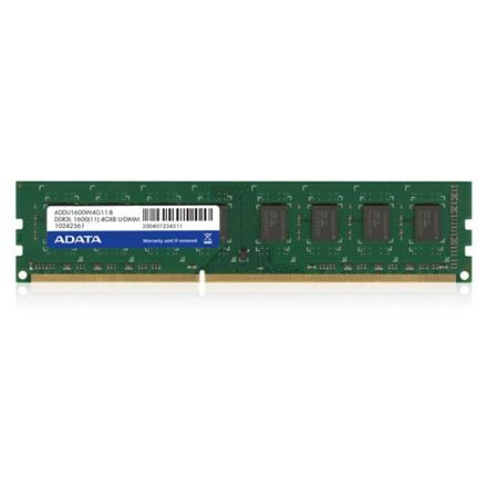 Memoria RAM Adata DDR3L, 1600MHz, 4GB, CL11
