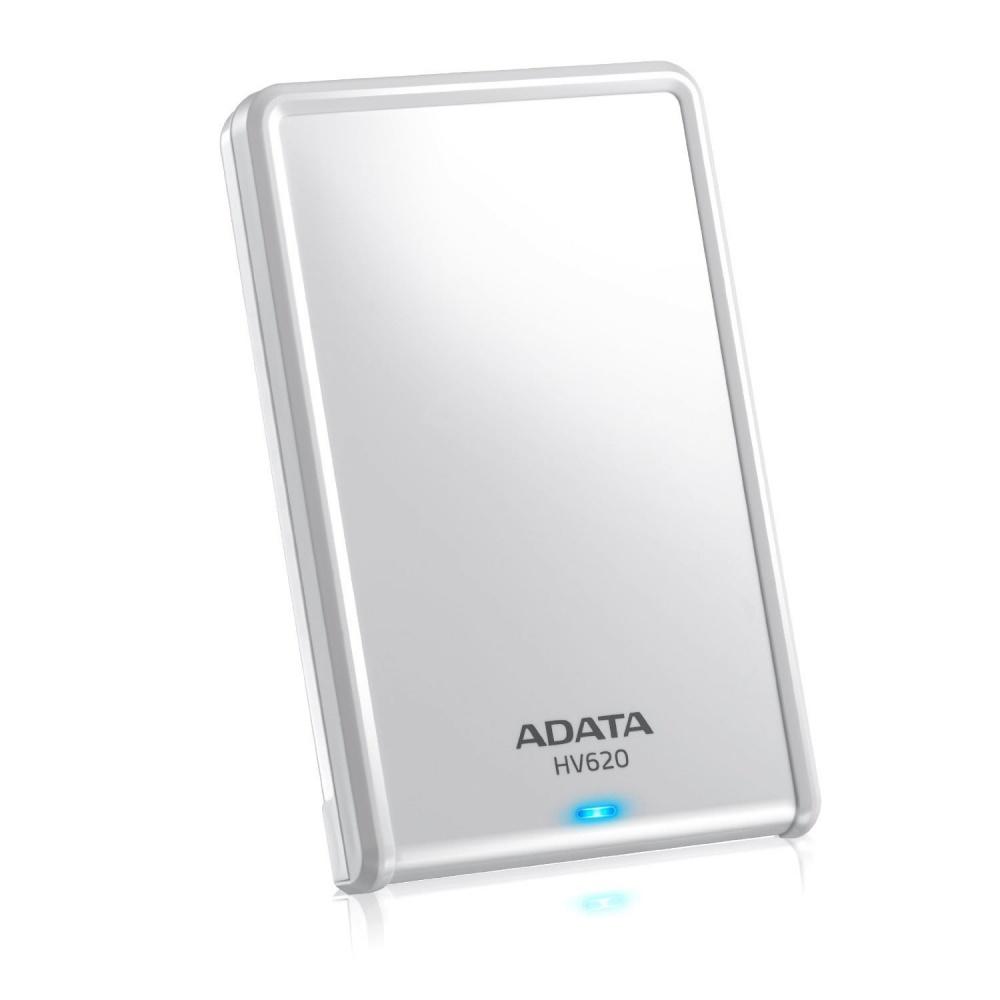 Disco Duro Externo Adata HV620 2.5'', 2TB, USB 3.0, Blanco