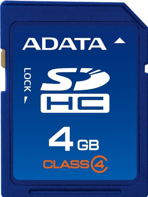 Memoria Flash Adata, 4GB SDHC Clase 4