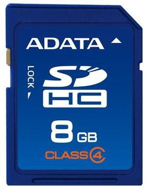Memoria Flash Adata, 8GB SDHC Clase 4