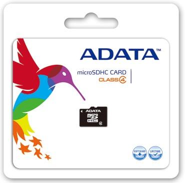 Memoria Flash Adata, 32GB microSDHC Clase 4, con Adaptador