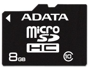 Memoria Flash Adata, 8GB microSDHC, Clase 10
