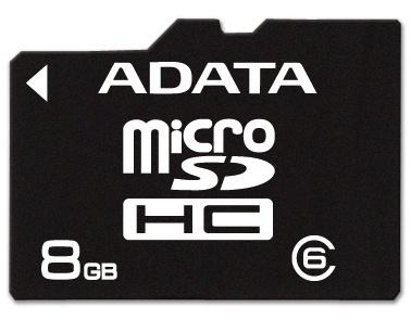 Memoria Flash Adata, 8GB microSDHC Clase 6