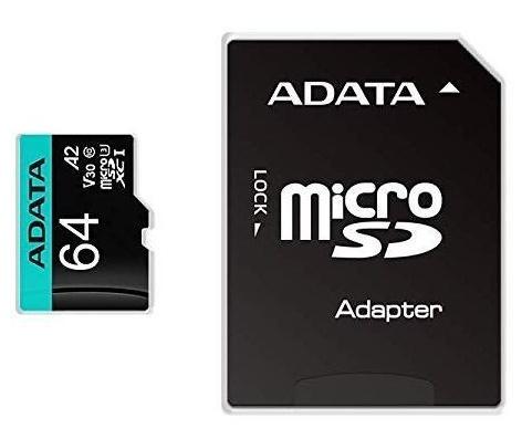 Memoria Flash Adata Premier Pro, 64GB MicroSDXC UHS-I Clase 10, con Adaptador