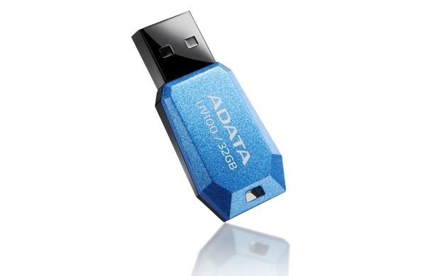 Memoria USB Adata DashDrive UV100, 32GB, USB 2.0, Azul
