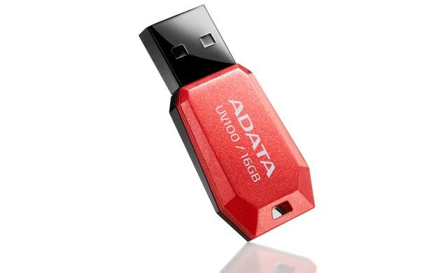 Memoria USB Adata DashDrive UV100, 4GB, USB 2.0, Rojo