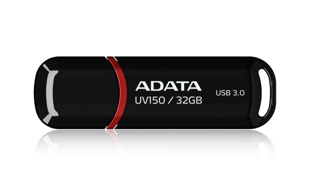 Memoria USB Adata DashDrive UV150, 32GB, USB 3.0, Negro