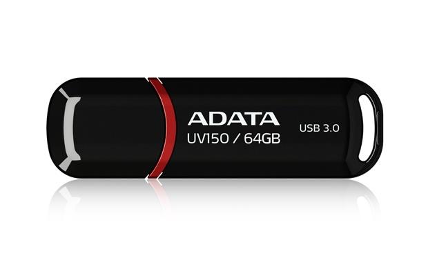 Memoria USB Adata DashDrive UV150, 64GB, USB 3.0, Negro