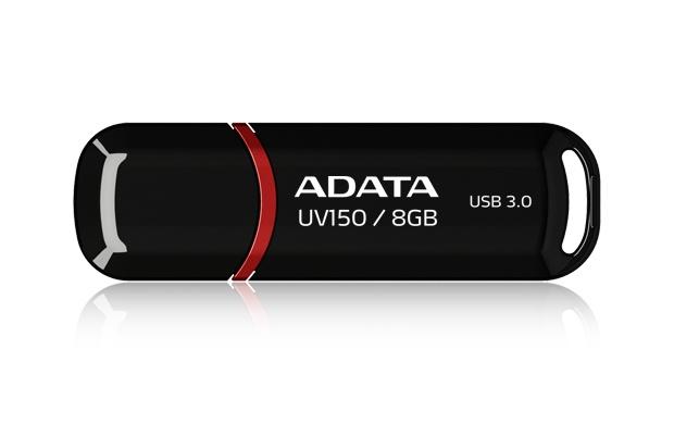 Memoria USB Adata DashDrive UV150, 8GB, USB 3.0, Negro