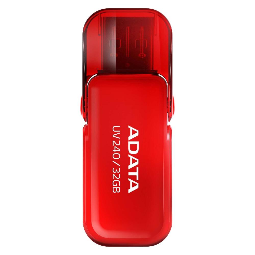 Memoria USB Adata UV240, 32GB, USB 2.0, Rojo