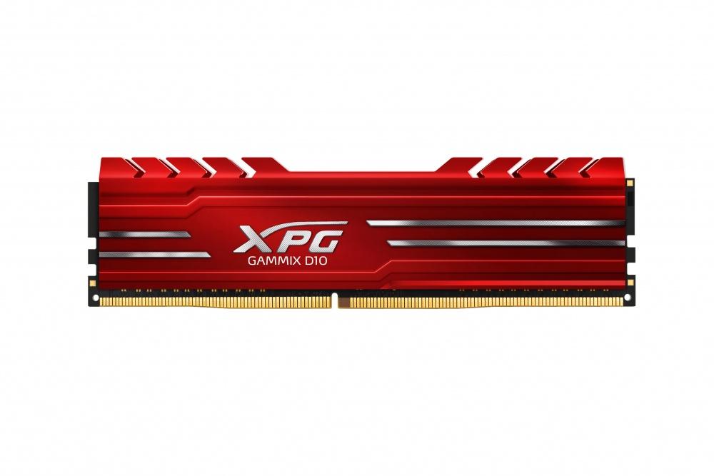 Memoria RAM XPG GAMMIX D10 Red DDR4, 3000MHz, 8GB, Non-ECC, CL16, XMP, 1.35v, para Intel
