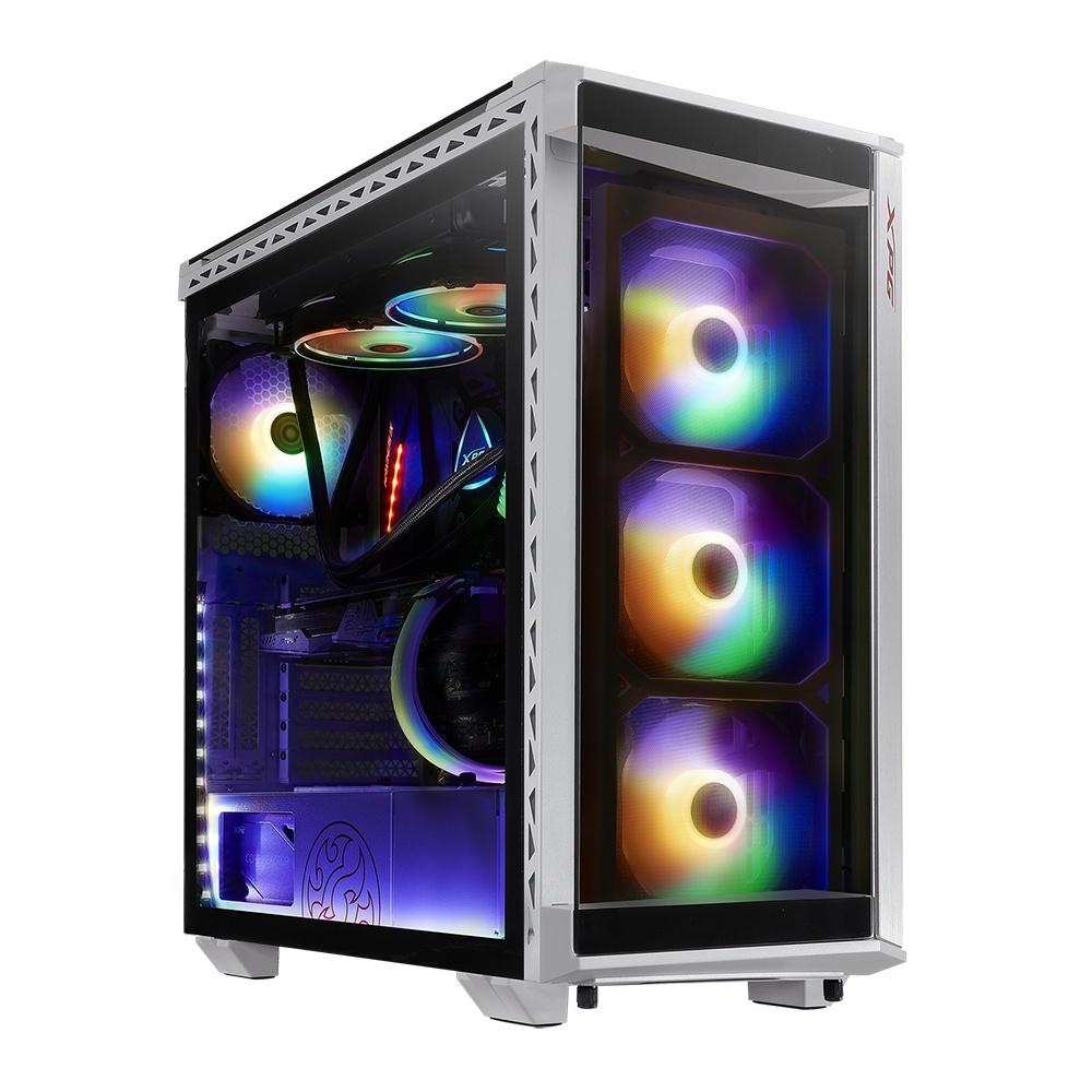 Gabinete XPG BATTLECRUISER con Ventana, Midi-Tower, ATX-EATX-Micro-ATX/Mini-ITX, USB 3.2, sin Fuente, Blanco
