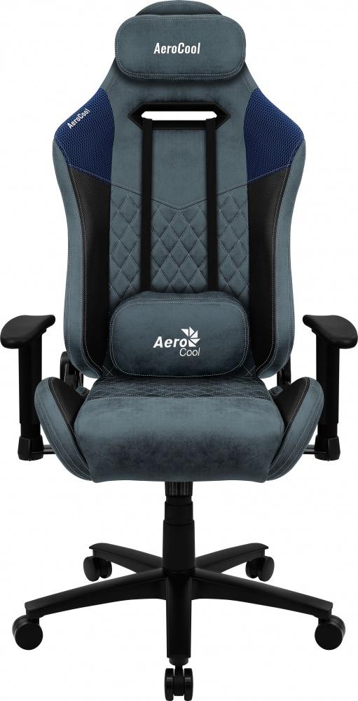 Aerocool Silla Gamer DUKE AeroSuede, hasta 150Kg, Negro/Azul