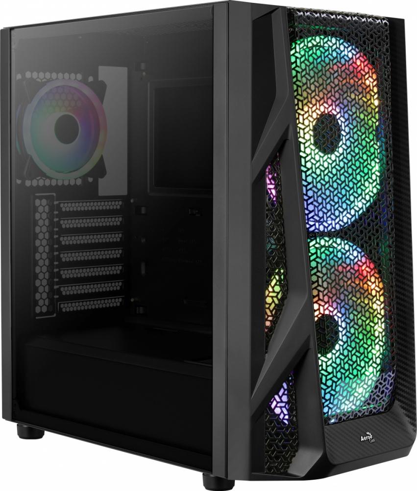 Gabinete Aerocool AirHawk Duo con Ventana, Tower, ATX/EATX/Micro ATX/Mini-ITX, USB 3.0, sin Fuente, Negro