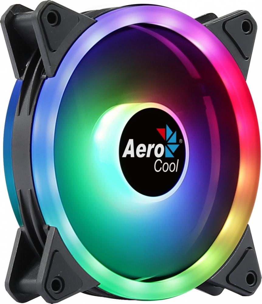 Ventilador Aerocool Duo 12 LED RGB, 120mm, 1000RPM, Negro