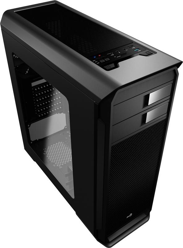 Gabinete Aerocool Aero-500 con Ventana, Midi-Tower, ATX/Micro-ATX/Mini-ITX, USB 2.0/3.1, sin Fuente, Negro