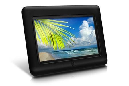 "Marco Digital Aluratek ADPF07SF LCD 7"", 480 x 234 Pixeles, Negro"