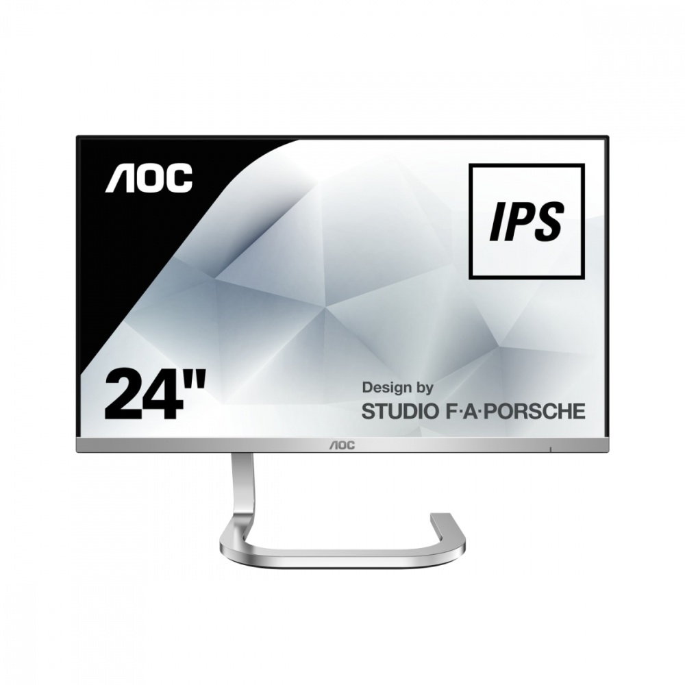 "Monitor AOC PDS241 LED 23.8"", Full HD, Widescreen, HDMI, Plata"