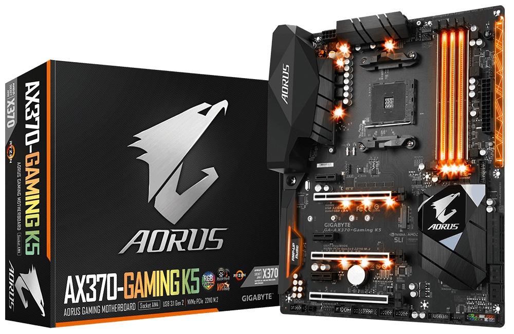 Tarjeta Madre AORUS ATX AX370-Gaming K5, S-AM4, AMD X370, HDMI, 64GB DDR4, para AMD