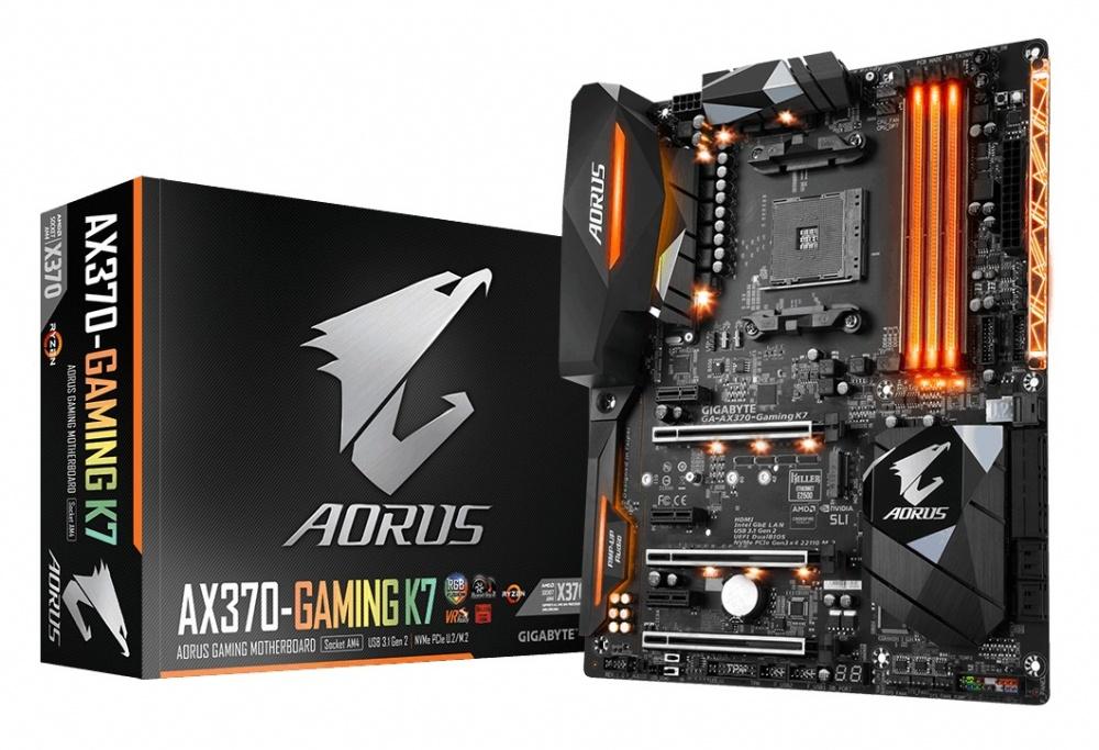 Tarjeta Madre AORUS ATX GA-AX370-GAMING K7, S-AM4, AMD X370, HDMI, 64GB DDR4, para AMD