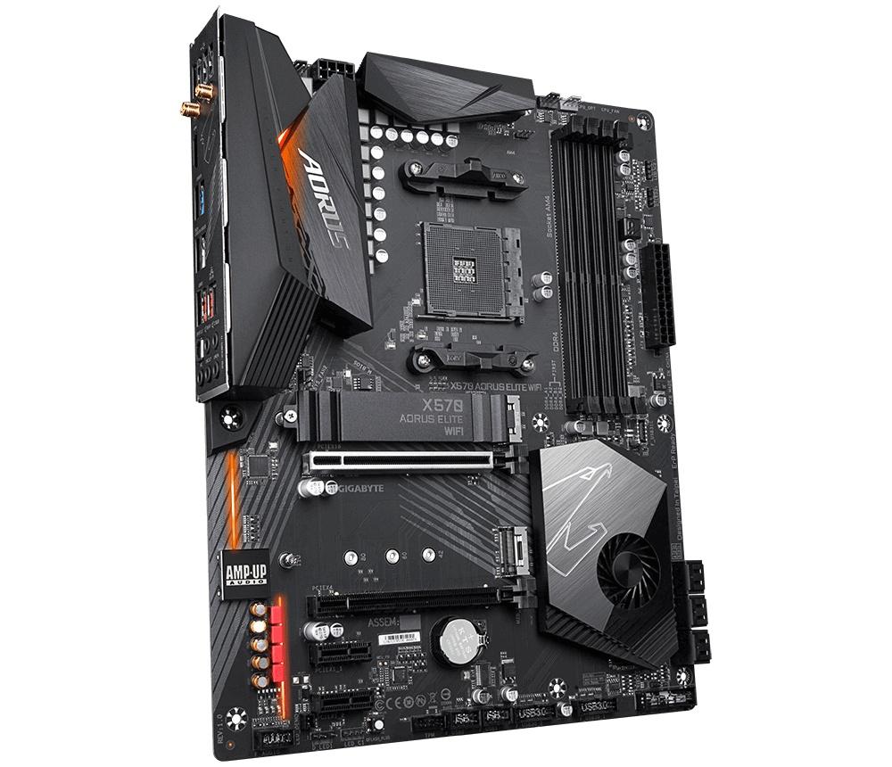 Tarjeta Madre AORUS ATX X570 AORUS ELITE WIFI, S-AM4, AMD X570, HDMI, 128GB DDR4 para AMD Ryzen — Requiere Actualización de BIOS para la Serie Ryzen 5000