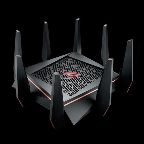 Router ASUS Gigabit Ethernet ROG Rapture GT-AC5300 con AiMesh, Inalámbrico, 1900 Mbit/s, 8x RJ-45, 2.4/5GHz ― ¡Optimizado para Gaming!