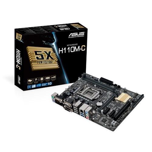 Tarjeta Madre ASUS micro ATX H110M-C/CSM, S-1151, Intel H110, 32GB DDR4, para Intel ― Requiere Actualización de BIOS para trabajar con Procesadores de 7ma Generación