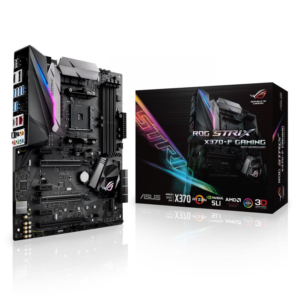 Tarjeta Madre ASUS ATX ROG STRIX X370-F GAMING, S-AM4, AMD X370, HDMI, 64GB DDR4, para AMD