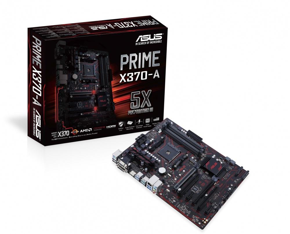 Tarjeta Madre ASUS ATX PRIME X370-A, S-AM4, AMD X370, HDMI, 64GB DDR4, para AMD
