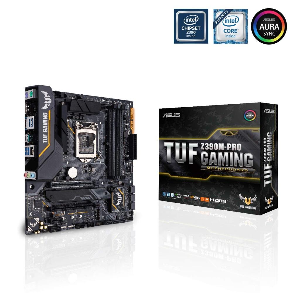 Tarjeta Madre ASUS micro ATX TUF Z390M-PRO GAMING (WI-FI), S-1151, Intel Z390, 64GB DDR4 para Intel ― Compatibles solo con 8va y/o  9va Generación (Revisar modelos aplicables)
