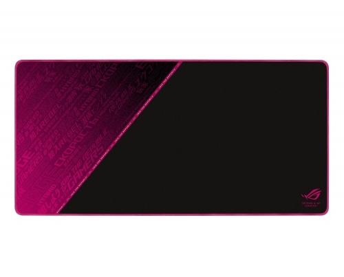 Mousepad Gamer ASUS ROG Sheath Electro Punk, 90cm x 44 cm, Grosor 3mm, Negro/Rosa