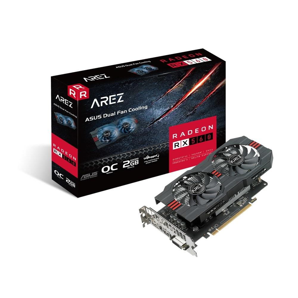 Tarjeta de Video ASUS AMD Radeon RX 560 AREZ OC EVO, 2GB 128-bit GDDR5, PCI Express x16 3.0 - ¡Gratis 3 meses de Xbox Game Pass para PC! (un código por cliente)