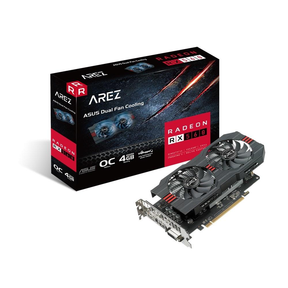 Tarjeta de Video ASUS AMD Radeon RX 560 AREZ EVO, 4GB 128-bit GDDR5, PCI Express x16 3.0 - ¡Gratis 3 meses de Xbox Game Pass para PC! (un código por cliente)