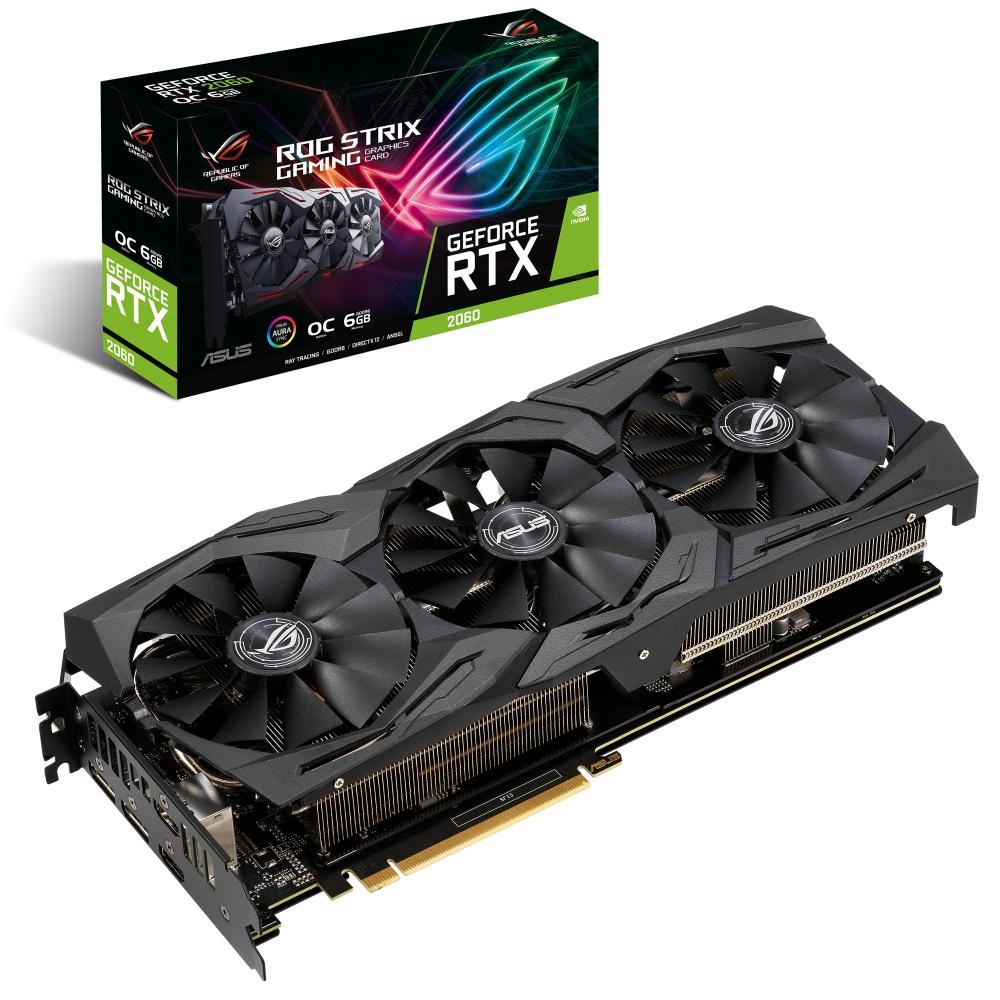 Tarjeta de Video ASUS NVIDIA GeForce RTX 2060 Rog Strix OC Gaming, 6 GB 192 bit GDDR6, PCI Express 3.0 - ¡Compra y recibe un juego GRATIS! (a elegir entre Metro Exodus o Battlefield V o Anthem)