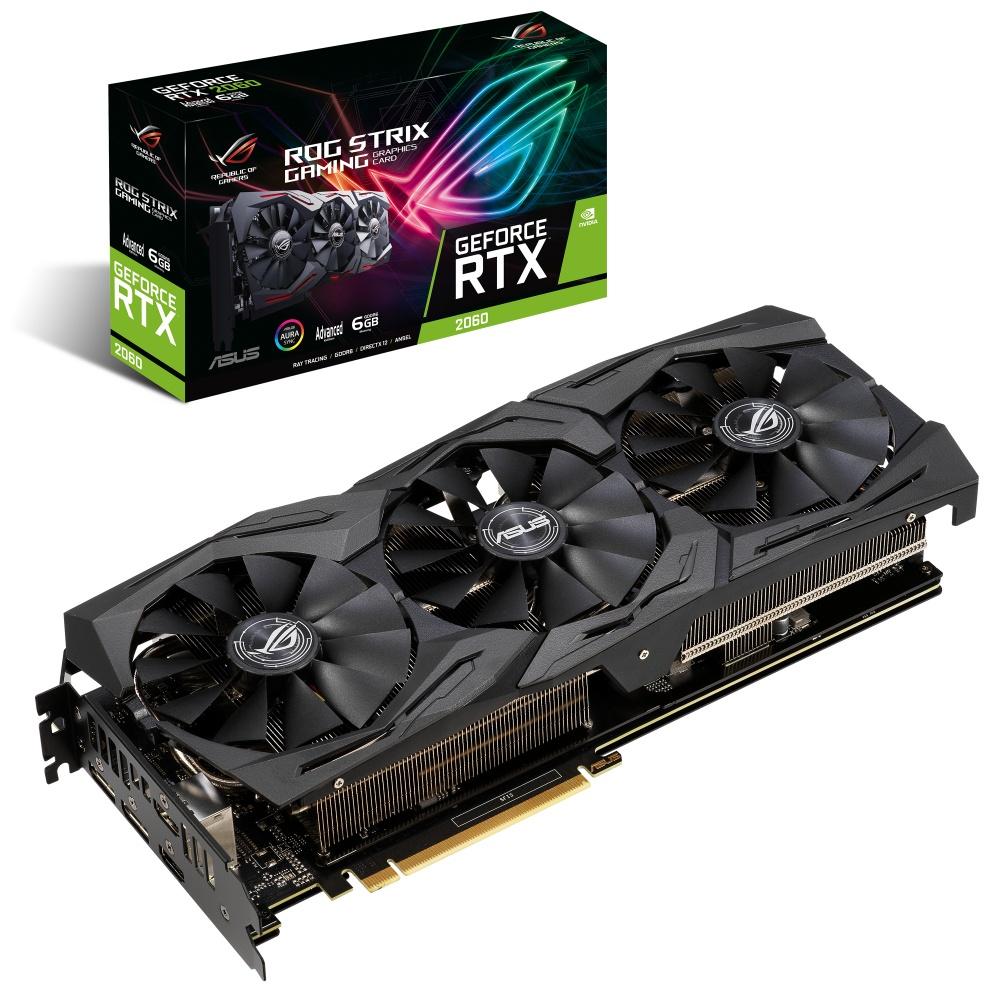 Tarjeta de Video ASUS NVIDIA GeForce RTX 2060 Rog Strix Gaming Advanced Edition, 6GB 192-bit GDDR6, PCI Express x16 3.0 ― ¡Compra y recibe Shadow of the Tomb Raider! Un código por cliente