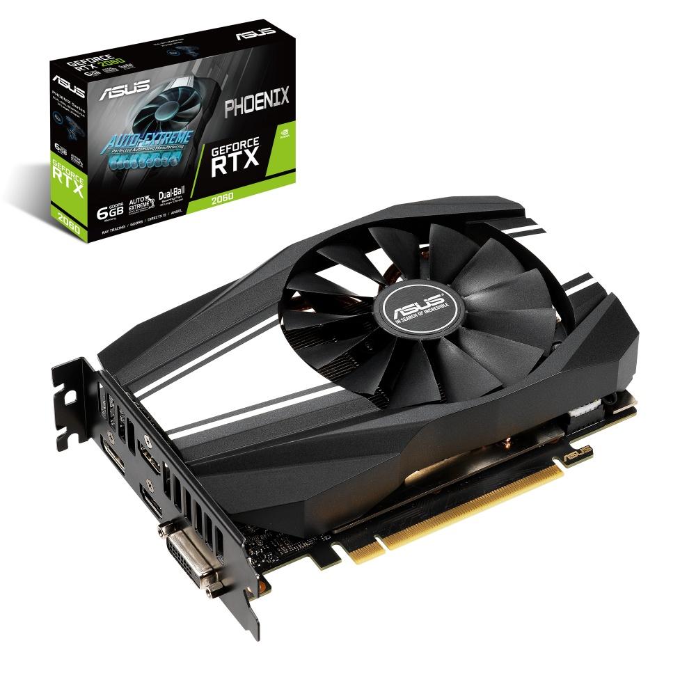 Tarjeta de Video ASUS NVIDIA GeForce RTX 2060 Phoenix, 6GB 192-bit GDDR6, PCI Express 3.0 - ¡Compra y recibe un juego GRATIS! (a elegir entre Metro Exodus o Battlefield V o Anthem)