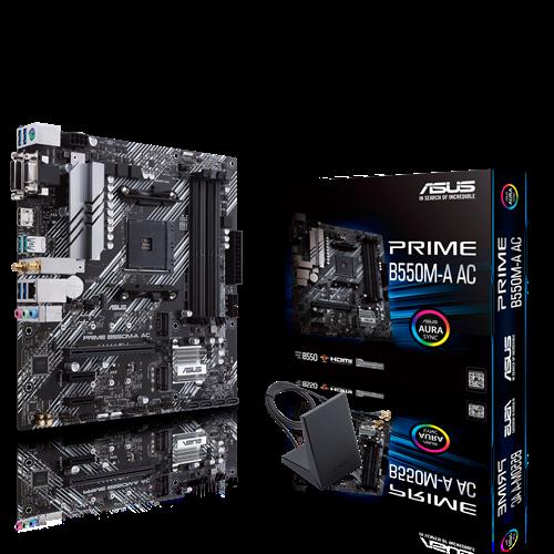 Tarjeta Madre ASUS ATX PRIME B550M-A AC, S-AM4, AMD B550, HDMI, 128GB DRR4, para AMD
