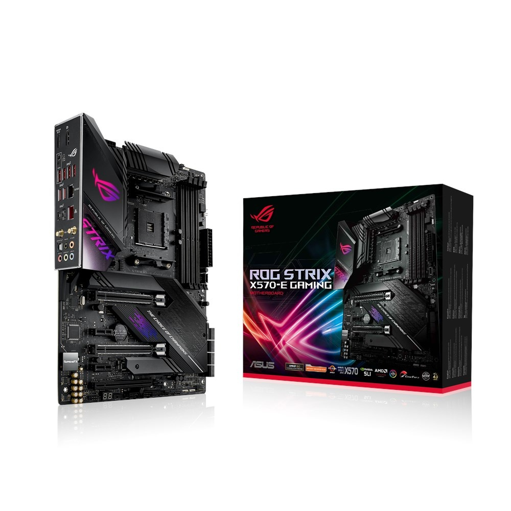 Tarjeta Madre ASUS ATX ROG Strix X570-E Gaming, S-AM4, AMD X570, HDMI, 128GB DDR4 para AMD