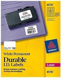 Avery Etiquetas Identificadores 6576, 1600 Etiquetas de 1-1/4 x 1-3/4