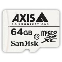 Memoria Flash Axis, 64GB MicroSDHC Clase 10, con Adaptador