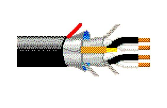 Belden Cable para Circuito, 4 Pares x18 AWG, Negro - Precio por Pie