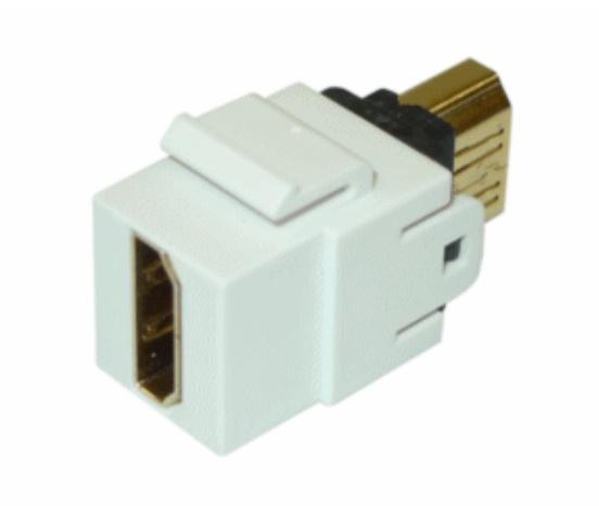 Belden Módulo Acoplador de HDMI 1.4, Hembra - Macho, Blanco