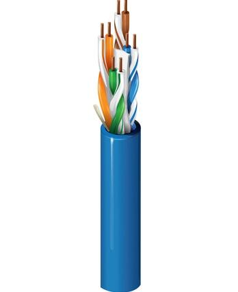 Belden Cable Patch Cat6+ UTP Sin Blindar RJ45 Macho - RJ45 Macho, 7.6 Metros, Azul