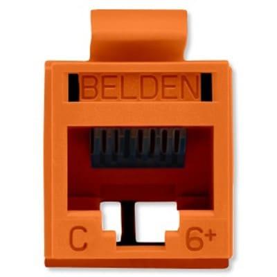 Belden Jack de Red Cat6+ UTP, RJ-45, Naranja